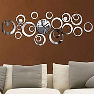 Acrylic DIY 3D Mirror Home Decor Circular Ring Butterfly Wall Clock Mirror Surface Sticker