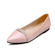 Черный / Розовый / Фиолетовый / Бежевый - Женская обувь - Для прогулок / Для офиса / Для праздника - Дерматин - На плоской подошве -