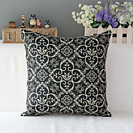 "43cm*43cm 17""*17"" European Patten Cotton / Linen Cotton&linen Pillow Cover / Throw Pillow With No Insert"