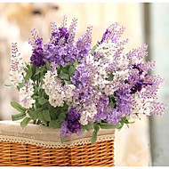10 Heads Silk Lavender Artificial Flowers (1 Bouquet)