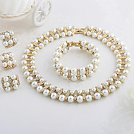 WesternRain Vintage Chunky Choker Pearl Necklace sets Wedding Jewelry Sets For Bride Accessories Pearl Jewelry