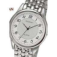 EASMAN Brand Men's Sapphire Casual Business Stripe Round Shape Stainless Steel Swiss Movement Quartz Watch Wristwatch