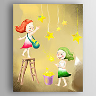 Stretched Canvas  Art Children Two Girls Playing Print  One Panel