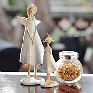 Two Pcs/Set Europe United States Angel Mother and Daughter Elves Household Adornment Resin Furnishing Articles