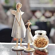 dois pcs / set europa estados unidos anjo mãe e filha elfos resina adorno doméstico artigos de decoração