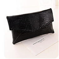 Women PU Clutch / Evening Bag Silver / Black