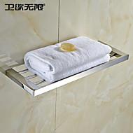 weiyuwuxian® quadrado contemporâneo toalha de aço inoxidável
