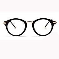 [Free Lenses] Unisex 's Acetate/Plastic Round Full-Rim Retro/Vintage Prescription Eyeglasses
