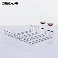 מחזיק גביע Rack ברזל היין מוצק ארבע שורת סגנון העכשווי
