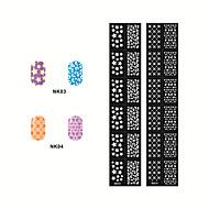 Autocolantes de Unhas 3D - Desenho Animado / Abstracto / Adorável / Punk / Casamento - para Dedo - de Outro - com 2 - 14.5*7CM