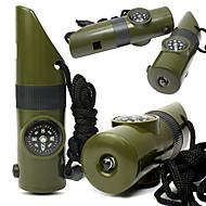 Survival Whistle / signál Mirror / Survival Kit / Kompasy / Teploměry / Zvětšovací sklo Kempink Pískat Umělá hmota Zelená