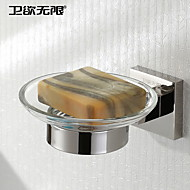 Soap Dish Stainless Steel Wall Mounted 150 x 120 x 50mm (5.9 x 4.72 x 1.97 Stainless Steel Contemporary