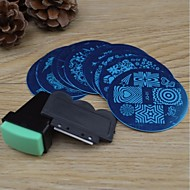 10PCS Nail Art Stamping Image Template Plates + 2 PCS Nail Art Stamping Printer(Random colour)