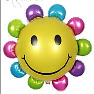 """24 """"5pcs / satt ballong aluminium plate film solsikke formede ballonger bryllup christmas decoration ballon"""