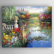 Oil Painting  Med Landscape Hand Painted Canvas with Stretched Framed Ready to Hang