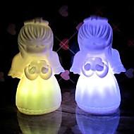 6,5 * 6,5 * 4,5 cm Anioł Boże Narodzenie kolorowe oszczędzania energii akumulatora na noc światła lampy LED 1szt
