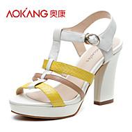 cuir sandales femmes aokang® - 132811033