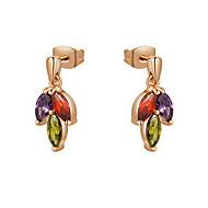 Stud Earrings Women's Alloy Earring Cubic Zirconia