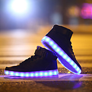 Running Shoes 2016 New Arrival LED Shoes High LED light luminous shoes USB charging Best Seller High Top Basket Fashion Sneakers Black / White / Red