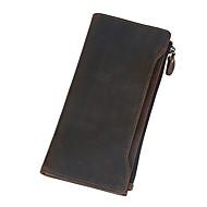 Bolsa de Mão / Carteira / Porta Cheques-Unissex-Couro de Gado-Casual / Ao Ar Livre / Compras