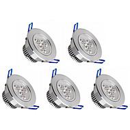 3W Lâmpada de Embutir 3 LED de Alta Potência 350 lm Branco Quente / Branco Frio Regulável V 5 pçs