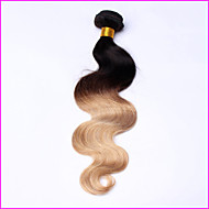 1 Pcs Ombre Peruvian Virgin Hair Body Wave Ombre Hair Extensions  Ombre 3 Tone Colored T1B/4/27 Human Hair Weave Bundles