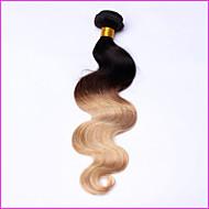 Âmbar Cabelo Peruviano Onda de Corpo 12 meses 1 Peça tece cabelo