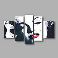 Ready to Hang Stretched Hand-painted Oil Painting on Canvas Wall Art Abstract Figure Marilyn Monroe Five Panels