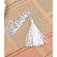 Silver-Metal L-O-V-E Bookmark with Elegant Silk Tassel Party Souvenir
