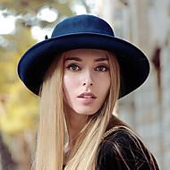 Women British Style Fashion Warm Bowler Wool Felt Hat, Casual Autumn Winter