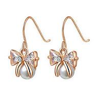 Drop Earrings Women's Alloy Earring Imitation Pearl