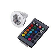 3W GU5.3(MR16) Spot LED MR16 1 LED Haute Puissance 260 lm RGB Commandée à Distance / Décorative DC 12 V 1 pièce