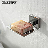 Soap Dish Stainless Steel Wall Mounted 160 x 130 x 50mm (6.3 x 5.12 x 1.97 Stainless Steel Contemporary