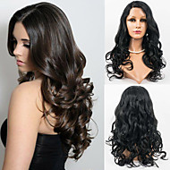 reine Menschenhaarspitzefrontseitenperücke Körperwelle 10inch-26inch Mode Perücken für schwarze Frau, unbearbeitete Haare
