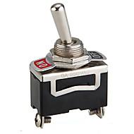 5pcs 12v teška preklopni zvrčka prekidač za uključivanje / isključivanje auto crtica lakih metala SPST 12 volti