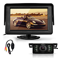 "4.3"" TFT LCD Car Rear View Reverse Monitor+Wireless Transmitter+7 LED IR Camera"