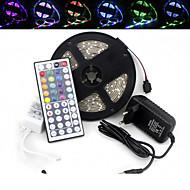 5m impermeabile 300x3528 RGB SMD ha condotto la luce della striscia e il telecomando 44key e 3A uk eu au alimentazione (AC110-240V)