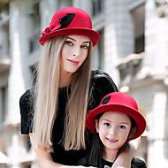 Women Korean Style Lovely Fashion Warm Bowler Wool Hat, Casual Autumn Winter