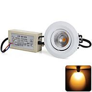 8W 埋込式ライト 1 COB COB 800 lm 温白色 装飾用 AC 100-240 V 1個