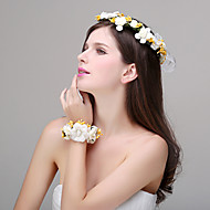 Women's Polyester Headpiece - Wedding / Special Occasion / Casual / Outdoor Headbands / Flowers 2 Pieces