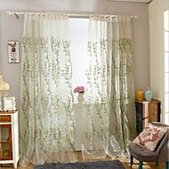 Two Panels European Contracted Fashion Style High-Grade Embroidered The Sitting Room The Bedroom Gauze Shade