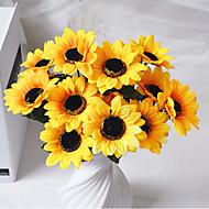 폴리에스터 해바라기 인공 꽃