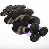 Cabelo Humano Ondulado Cabelo Brasileiro Onda de Corpo 3 Peças tece cabelo