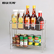 WeiYuWuXian® Multifunction 304 Stainless Steel Kitchen Double Layers Seasoner Shelf