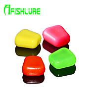 """60pcs/lot יח ' פיתיון רך / חבילות פיתיון ורוד / אדום / גוון צהוב / ירוק זכוכית 0.32 g/<1/18 אונקיה,10 mm/4"""" אינץ ',פלסטיק רך / פי וי סי"""