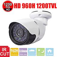 cctv 24les 1200tvl 3,6 milímetros 03/01 sony HD CMOS 960H câmera de segurança bala impermeável ao ar livre-corte IR
