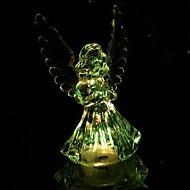 5×9センチメートルクリスマス天使ロマンチックなカラフルなクリスタルの小さな夜の光LEDランプの1個