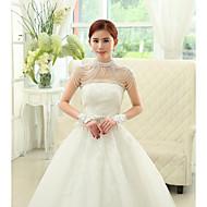 Wraps Wedding Mantelline Senza maniche Paillettes Bianco Matrimonio / Da sera DolcevitaCon perline / Con cristalli / Con fiori / Con
