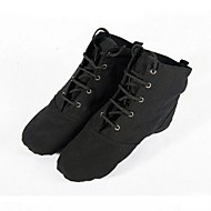 Non Customizable Women's / Kids' Dance Shoes Jazz Canvas / Paillette Flat Heel Black / Red / White