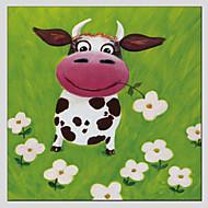 手描きの 動物Modern / クラシック / トラディショナル / 欧風 1枚 キャンバス ハング塗装油絵 For ホームデコレーション